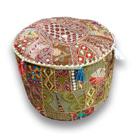 Indian Cotton Stool Pouf Cover Patchwork