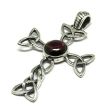 Fashion Design !! Garnet Round Shape Gemstone Silver Jewelry, Gemstone Silver Jewelry, Cross Gemstone Silver Pendants