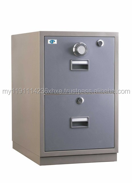 2 Drawers Fire Resistant Filing Cabinet