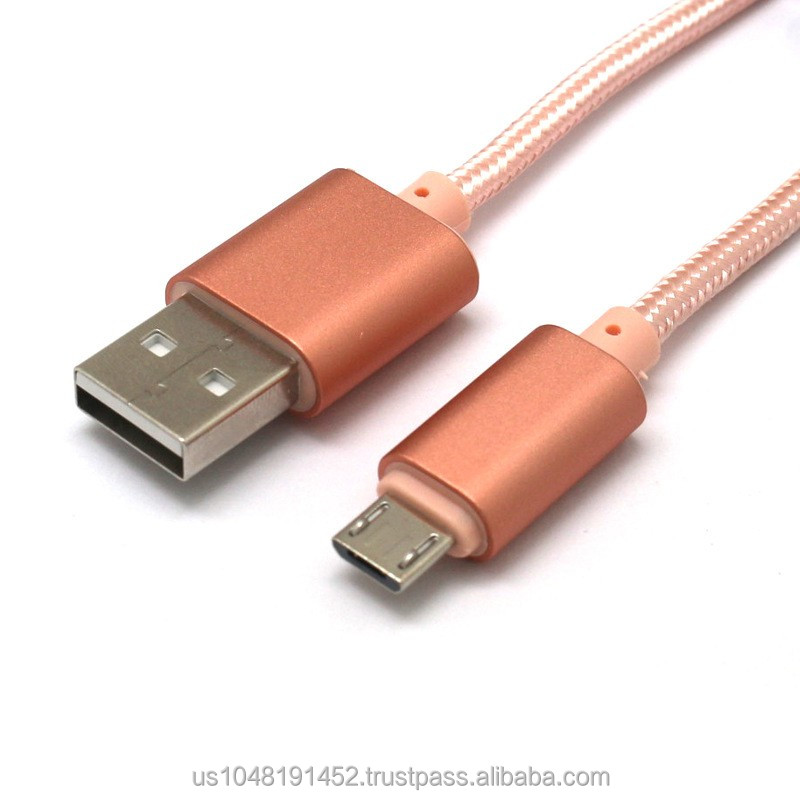 Cell phone braided micro usb cable products made in china