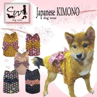 ISO certified pets clothes and accessories Kimono for Dog with traditional Japanese textiles
