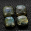 labradorite cushion cabochon gemstones blue fire for handmade jewelry