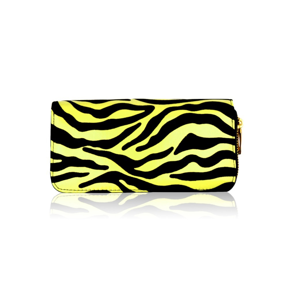Zebra Print Double Zip Purse, Ladies Purses, Women Wallet, handbags