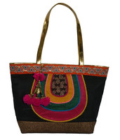 Customized size handmade cotton fabric china bag 2015 new high quality Indian bag