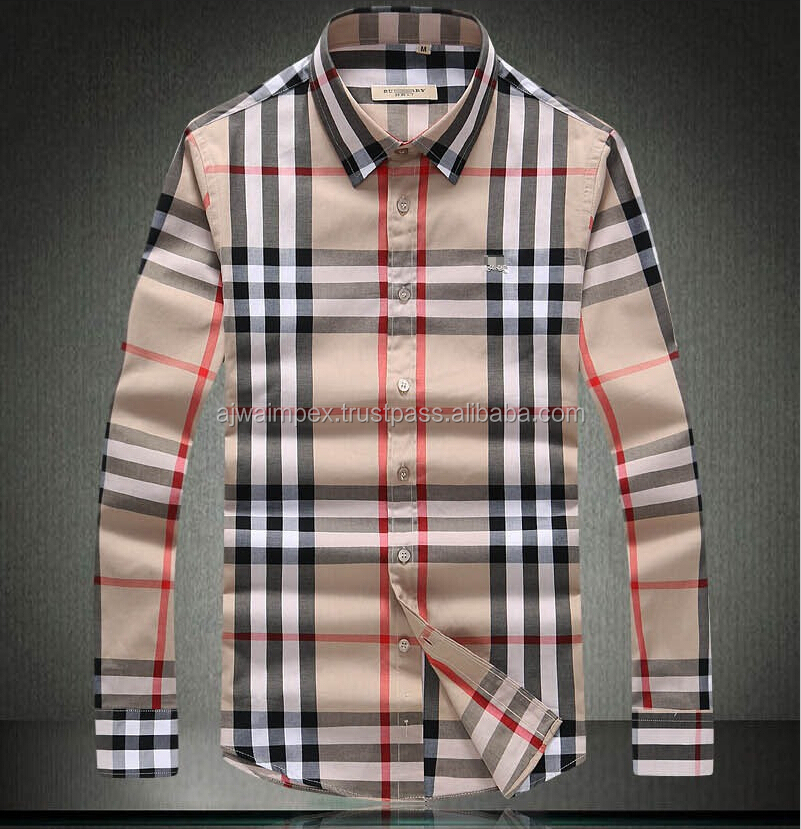 100% cotton long sleeve collar style latest fashion design brand dress shirt for men