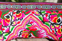 Village Of Peacocks Hmong Clutch Bag Hill Tribe Handmade