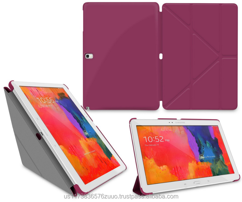 Ultra Slim Shell Lightweight Tablet Sleep / Wake Stand Folio Cover Case for Galaxy Tab Pro 10.1 roocase (purple)