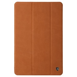 BASEUS Teser Series for iPad mini 4 Tri-fold Flip Leather Smart Case - Brown