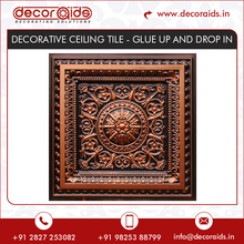 Antique Design Glue Up And Drop In Decorative Ceiling Tiles
