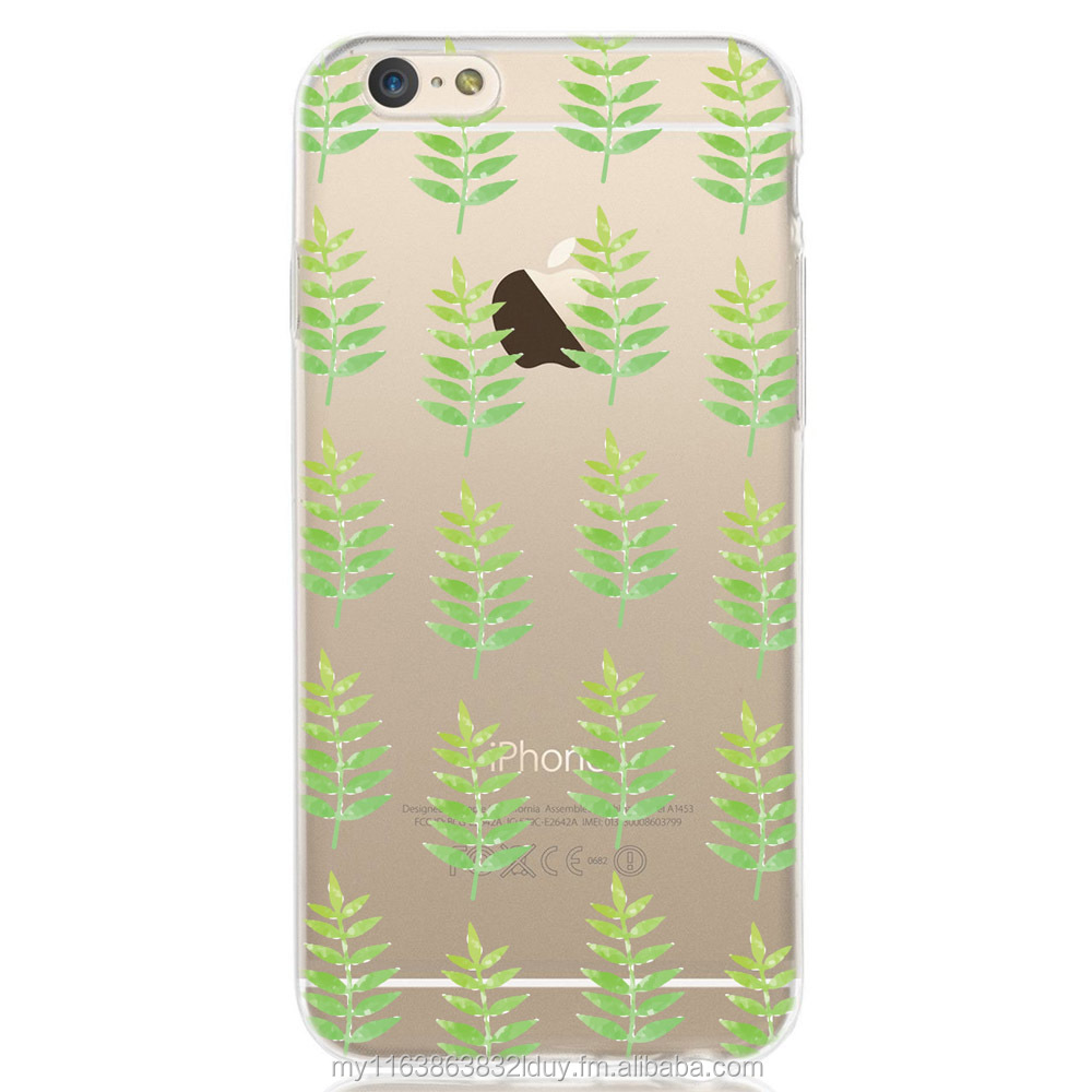 Printed Leaf Patterned Design Soft cover TPU case
