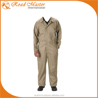 Khaki Modern Pocket Style Working Coveralls