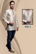 Men Short Embroidered Kurti Designs