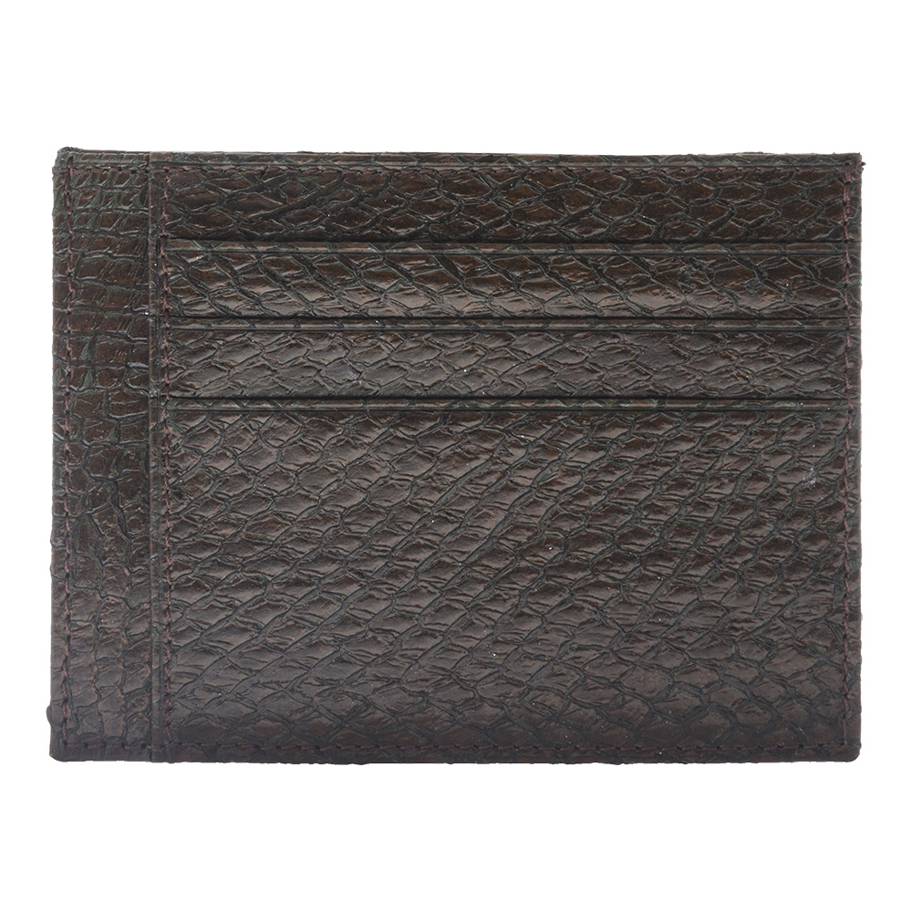 real fish leather card case for card holder