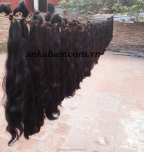 Hot selling Vietnamses kindy curly hair braids, virgin 100% human hair products natural hair weft, curly hair extension