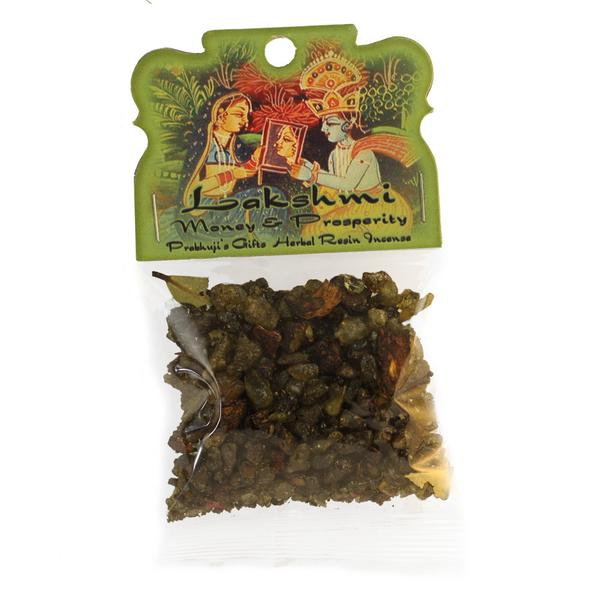 Resin Incense Lakshmi - Money and Prosperity 1.2oz Bag - Export from NY, USA - FREE Samples - No minimum order - Made by Yogis