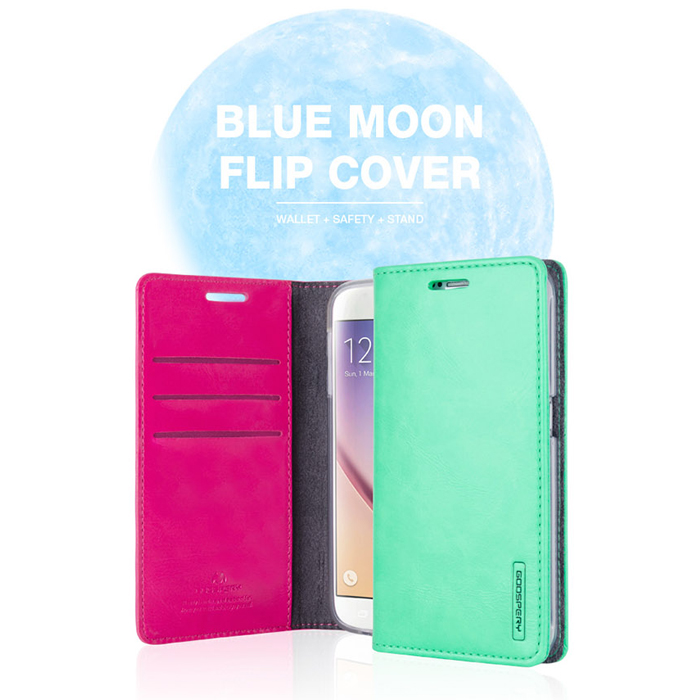 00419 For iPhone 6/6S/6 Plus/6S Plus/5/5S/SE/LG V10/K10/G5/G4/G3/stylus2_Bluemoon flip_Smart Cellular Mobile Phone Case Cover