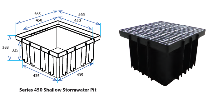 450S Stormwater Pit with Class A Grate