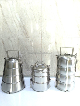 stainless steel 3 tier clip tiffin