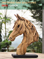 Driftwood teak Horse Head sculpture