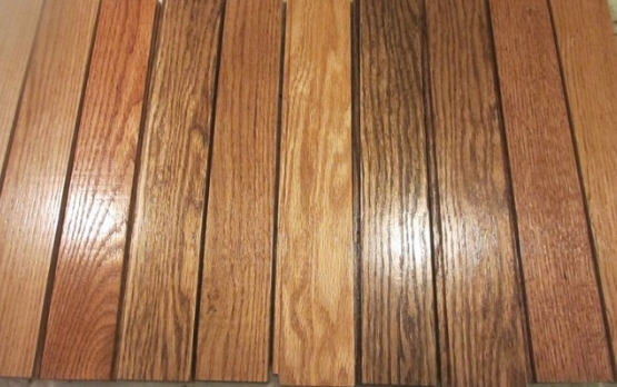 Oak 4cm width wood flooring+stained+oiled