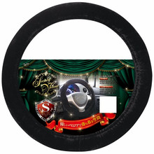 Various colors of comfortable feel 14 inch steering wheel covers , velour material available
