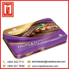 Vochelle Regular Tin 205g Fruits & Nuts chocolate
