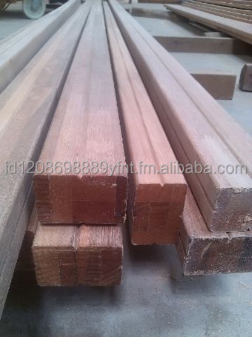 Beam Wood (Bangkirai wood, Kruing Wood ) Profile Reeded Both Face Standar & Better