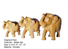 Wood Crafted Elephant