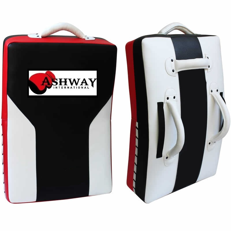 Leather-X Curved Gel Strike Shield Black White Red Each PC.