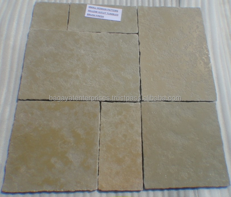 Indian Yellow Limestone Paving Slabs