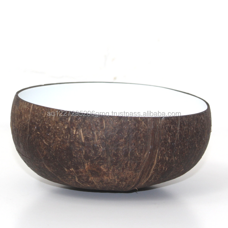 Coconut Bowl white lacquer FDA approved food-safe