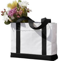 Promotional cotton bag for shopping with customized screen silk printing fashionable style