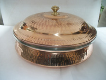 Copper Steel Indian Serving Dishes for Home, Restaurant, Hotel and Catering Ware