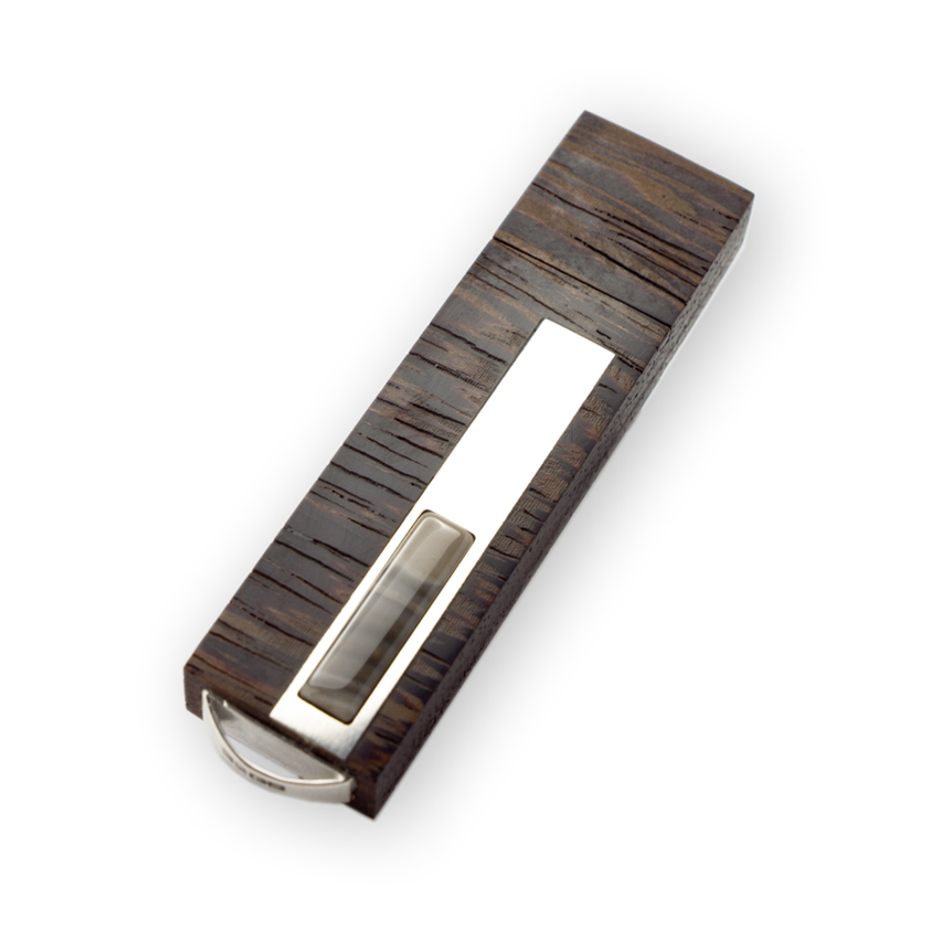 Prestige Balance - Firestone, Wenge, Mahogany, silver, hand made, exclusive USB flash drive