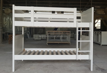 white bunk bed/cheap bunk beds/wooden bunk bed