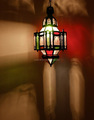 Moroccan glass ceiling lamp