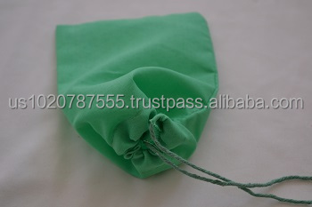 4' x 6' Single Drawstring Cotton Muslin Bag High Quality. Lime Green