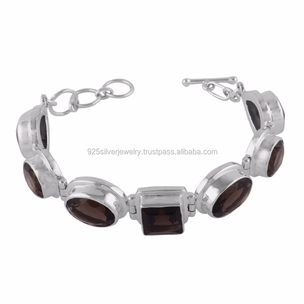 Smoky quartz sterling silver 925 jewelry fashionable jewelry semi percious stone