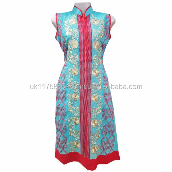 Crinkle 3 Piece embroidery dress for girls Pakistani Indian Desi wear