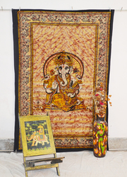 Ganesh Tapestry Wall Hanging Bed Sheet Indian God Ganesha Tapestries Twin Fringes Beach Throw Blanket Hippie Ethnic