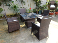 Top sales 2015 new design Rattan wicker sets vietnam furniture manufacturer for dining room