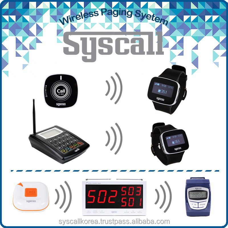 Syscall display monitor Wireless service waiter call bell system