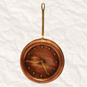 Clock With Long Brass Hook