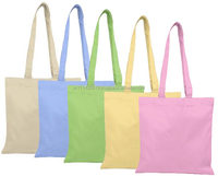 Custom square printing bag made in China wholesale organic cotton canvas grocery tote shopping bag