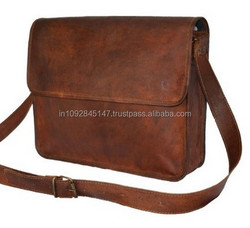 Light brown leather laptop Messenger bags and real leather 13inch