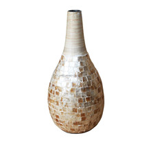 mother of pearl vase, spun bamboo lacquer with high quality from viet nam