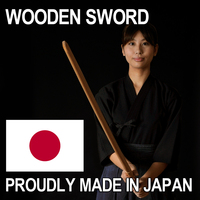 One piece of wood and Top quality wood katana wooden sword with Japanese red oak made in Japan