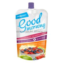 Good morning blended fruit puree with cereals