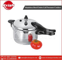 Stainless Steel Outer Lid Pressure Cooker