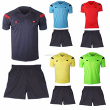 Man's Soccer Football Referee Jersey Short Sleeve Shirt & Shorts Uniforms
